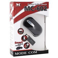 MC-602 Energy Optical Mouse, Black, RF Wireless, Ottico, 800 DPI, Nero, AAA, 76g
