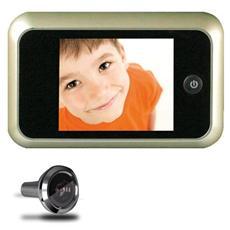Spioncino digitale per porta con telecamera con display lcd cornice oro