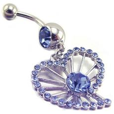 body piercing 'coeur' blu - [ e7763]