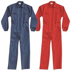 Tuta In Cotone Colore Blu O Rosso Taglia 2xl