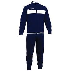 Tuta Terry Givova Completo Di Giacca Con Zip Manica Lunga E Pantalone Colore Blu / blu Taglia S