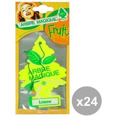 Set 24 Deodorante Lemon Accessori Auto