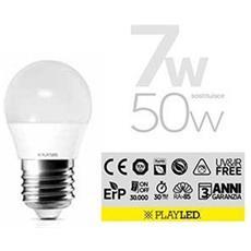 Lampada Sfera Led E27 7w Luce Calda 2700k 580 Lumen