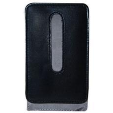 Leather Case Nero / grigio Per Iphone 3g / 3gs