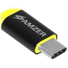 AMZ97938, USB Type-C, Micro-USB, Maschio / femmina, Nero, Giallo