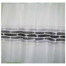 Tenda Doccia in Poliestere impermeabile 120X200 SASSI GRIGI MAURER con ganci