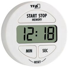 Timer Elettronico e Cronometro Bianco LR44 38.2022.02