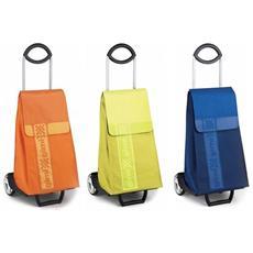 Carrello Porta Spesa Argo Comodo Supermarket 2 Ruote Capienza Lt 45 Colore Blu