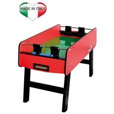Biliardino calciobalilla tavolo tam tam calcio balilla con palette rosso