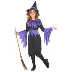 JADEO - Costume Da Strega Per Halloween Da Bambina 7 A 9 Anni 7a4acf455a7f