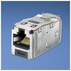Mini-Com® TX6™ 10Gig™ Shielded Jack Module - TG Style Grigio cavo di interfaccia e adattatore