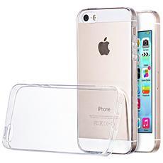 Cover per Apple iPhone 5 5S silicone morbido Ultra Slim trasparente 0,3mm