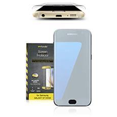 Vetro Temperato 3D Curvo Protezione Schermo da Bordo a Bordo 0,2 mm per Galaxy S7 (1Pz) Colore Oro