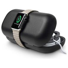 12-1512 Timeporter Travel Black - Astuccio Supporto Per Apple Watch - Nero