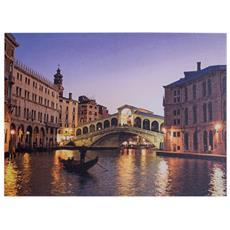 Decorazione Parete Stampa Su Tela Azzurro Marrone Venezia Sala