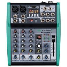 """Mixer Audio Passivo 4 Ch. Processore Di Effetti """"""""fx"""""""" Bluetooth Usb"""