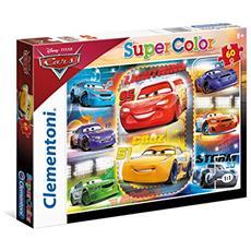 CLM26973 Cars 3 - Puzzle 60 Pezzi Saetta McQueen e Jackson Storm