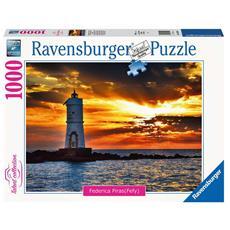 Puzzle Faro di Mangiabarche Isola di Sant'Antioco, Sardegna 1000 pz 70 x 50 cm 16195