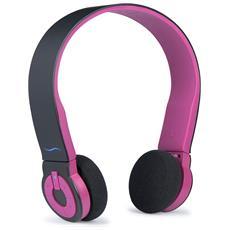 Cuffie con Microfono Bluetooth Colore Nero e Rosa