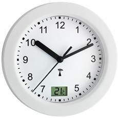 Orologio Elettronico da Parete per Bagno con Termometro Digitale Bianco 603501