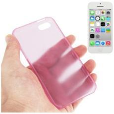 Custodia Ultra Sottile 0.3mm Per Iphone 5c Rosa Trasparente
