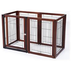 Recinto Gabbia Per Cani E Gatti In Legno Di Pino, 6 Elementi