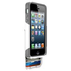Cover Protettiva Antiurto Commuter Wallet per iPhone 5 / 5S + cassettino porta tessere - Ghiaccio