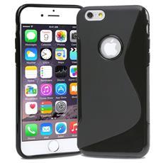 Cover S-Line Nero per Apple iPhone 6