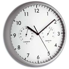 Orologio Elettronico da Parete Argento Aluminio 981072