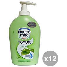Set 12 Sapone Liquido Aloe Vera 300 Ml. Saponi E Cosmetici