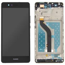 Lcd Touch Screen Vetro E Cover Frame Completo Nero Per P9 Lite