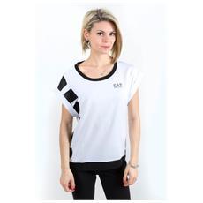 T-shirt Donna Train Master Bianco Nero L
