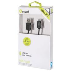 MUUSC0001V, USB A, Micro-USB B, Maschio / maschio, Dritto, Dritto, Nero