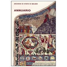 Annuario dell'archivio di Stato di Milano