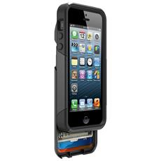 Cover Protettiva Antiurto Commuter Wallet per iPhone 5 / 5S + cassettino porta tessere - Nero