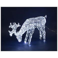 Renna a 200 Luci LED da Esterno 50 cm Bianco Freddo