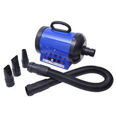 Soffiatore Phon per Cani e Gatti 2400W regolabile colore Blu