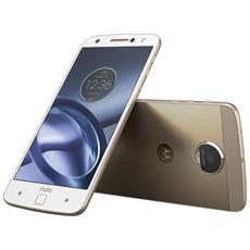 "Moto Z Bianco 32 GB 4G/LTE Dual Sim Display 5.5"" Quad HD Slot Micro SD Fotocamera 13 Mpx Android Italia"