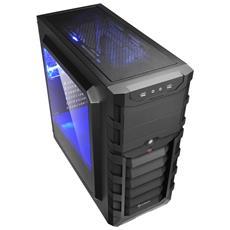 Case PC Skiller SGC1 Window Tower ATX / Micro-ATX / Mini-ITX 2 Porte USB 3.0 Colore Nero / Blu