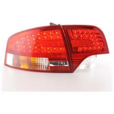 Fari Fanali Posteriori A Led Coppia Per Audi A4 B7 (8e) Berlina Anno Di Costr. 04-07, Rosso / chiaro