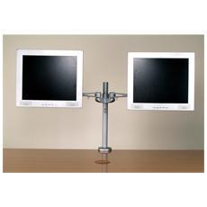 *Braccio Per Supporto Due Monitor Lcd A 5 Snodi Per Tavolo
