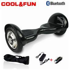 Hoverboard Smart Balance Monopattino Elettrico Pedana Scooter Bluetooth Due Ruote 10 Pollici Puro Nero