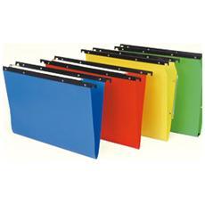 confezione da 25 pezzi - cartella sospesa in ppl cassetto 33 / v colori ass. 500/330 cartesio pp