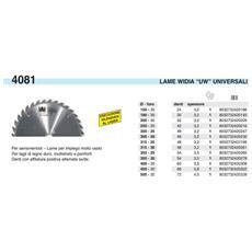 Lama Sega Circolare Widia Mm. 450 F. 30 Z. 66