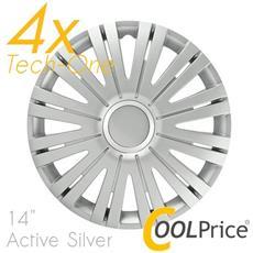 Copricerchi Auto Universali 14 Pollici Tech-one Active Silver 31556
