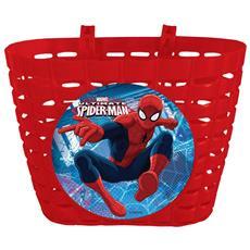 Cestino Porta Giochi Spiderman Per Bicicletta Bambini