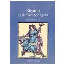 Ricordo di Raffaele Spongano