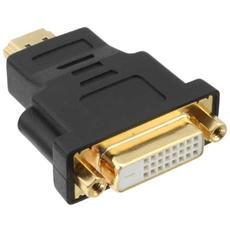 17670P, HDMI, DVI-D, Maschio / femmina, Nero