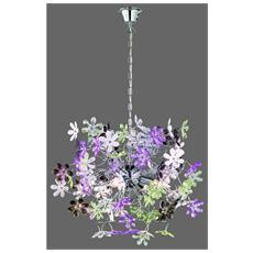 Sospensione Flower, Acrilico, Fiori Extra, Ø63xh. 52 Cm
