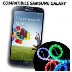 Cavo Dati Usb Luminoso Caricabatteria Compatibile Samsung Galaxy